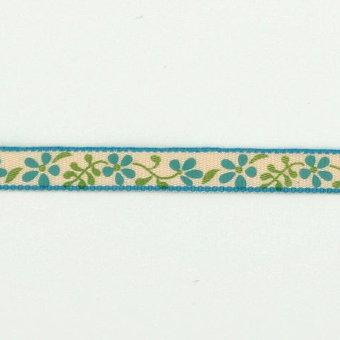 La Stéphanoise Blue Flowers Twill Tape