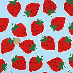 Large Strawberries in Blue from L Collection by Kokka House Designers  for Kokka