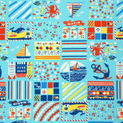 Seaside Friends in Blue from Romantic Memories by Cosmo Textiles House Designers  for Cosmo Textiles