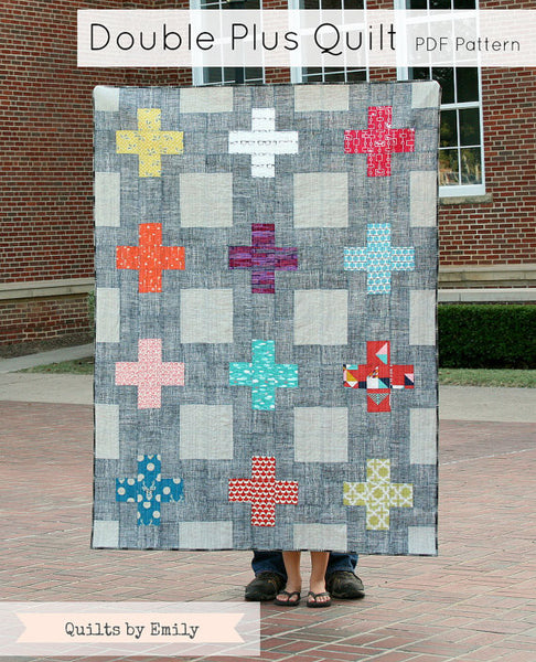 Double Plus Pdf Quilt Pattern By Quilts By Emily Modern Quilting