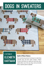 Dogs In Sweaters – Paper Quilt Pattern from Kona Solids by Elizabeth Hartman for Robert Kaufman