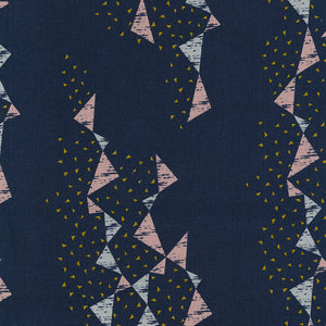Tayutou Triangle Canvas in Dark Blue