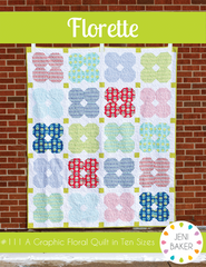 Florette - PDF Quilt Pattern from Curiosities by Jeni Baker for Art Gallery