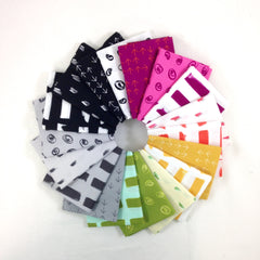 Glamp Solid Bundle Brights Fat Quarter from Custom Bundles by Sarah Watts for Cotton+Steel