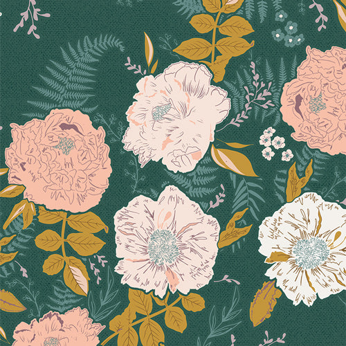 GTH-47500 Gathered Foraged Garland in Golden by Bonnie Christine for Art Gallery Fabrics at Pink Castle Fabrics