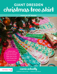 Giant Dresden Christmas Tree Skirt - PDF Other Pattern by Carrie Merrell for CarrieActually.com