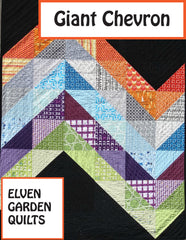 Giant Chevron - PDF Quilt Pattern by The Elven Garden