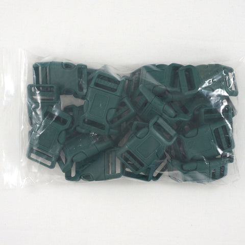 "Side Release Buckle (for 1"" Straps) - Green (25-Pack)"