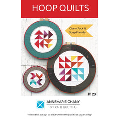 Hoop Quilts - Paper Quilt Pattern by AnneMarie Chany for Gen X Quilters