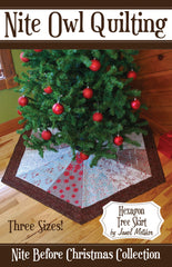 Hexagon Tree Skirt - PDF Quilt Pattern by Nite Owl Quilting