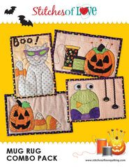 Halloween Mug Rug - PDF Quilt Pattern by Stitches of Love