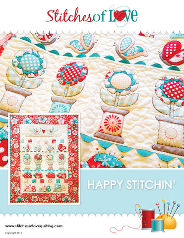 Happy Stitchin - PDF Quilt Pattern