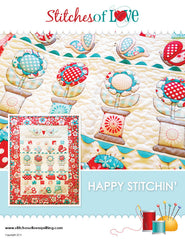 Happy Stitchin - PDF Quilt Pattern by Stitches of Love