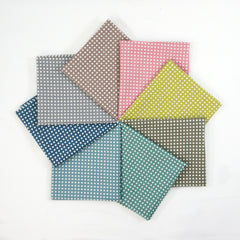 Happy Sweet Collection Checks - Fat Quarter Bundle from Happy Sweet Collection by Yoshiko Jinzenji for Yuwa