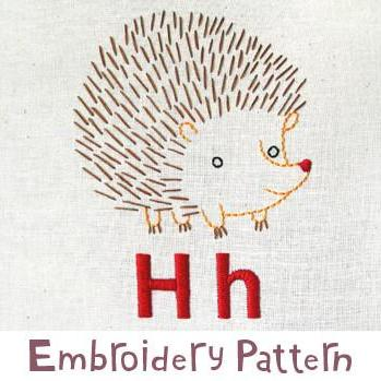 Hedgehog Embroidery - PDF Accessory Pattern