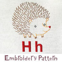 Hedgehog Embroidery - PDF Accessory Pattern by Penguin and Fish
