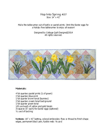 Hop Into Spring - PDF Quilt Pattern
