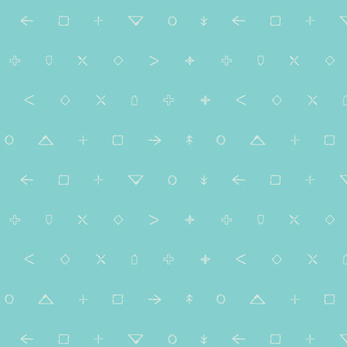 ICE-209 Icon Elements in Character Sky by AGF Studio for Art Gallery Fabrics from Pink Castle Fabrics