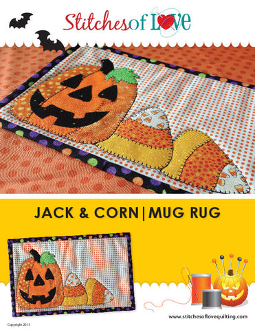Jack and Corn Mug Rug - PDF Quilt Pattern