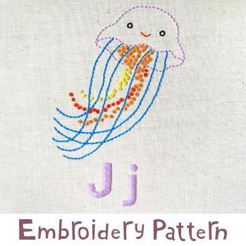 Jellyfish Embroidery - PDF Accessory Pattern