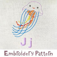 Jellyfish Embroidery - PDF Accessory Pattern by Penguin and Fish