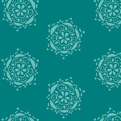 Lavish Bejeweled Seal in Teal from Lavish by Katarina Roccella for Art Gallery