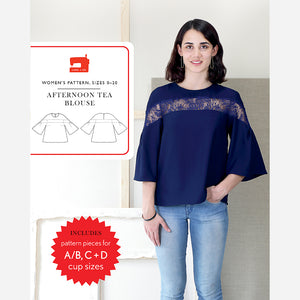Afternoon Tea Blouse - PDF Apparel Pattern