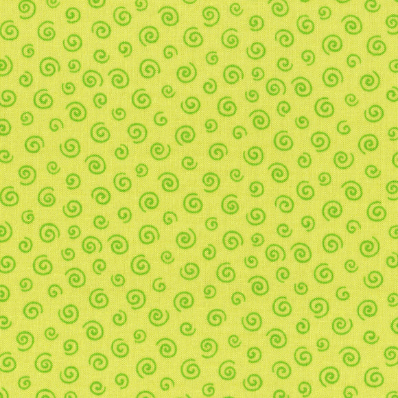 L's Modern Fiesta Time! Spiral Out in Green on Lime