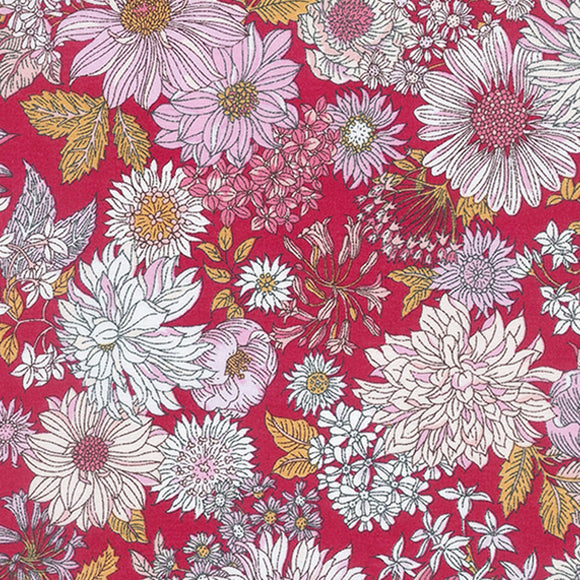 Memoire A Paris 2018 Floral Potpourri Lawn in Red