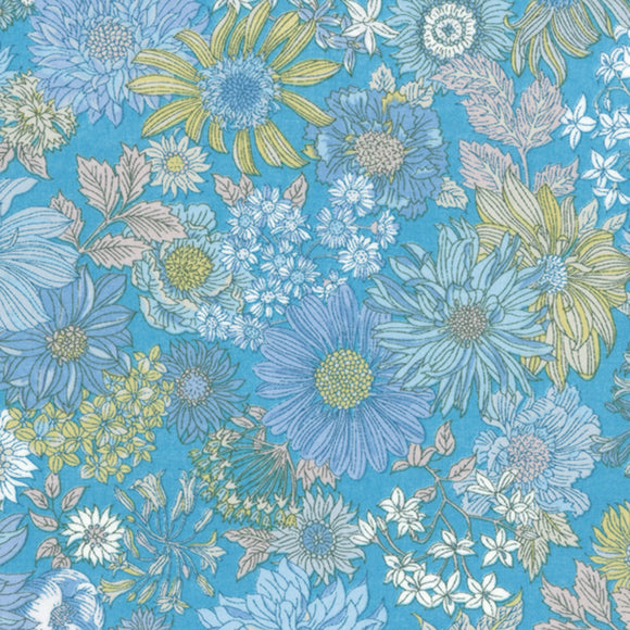 Memoire A Paris 2017 Floral Potpourri Lawn in Blue