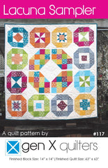 Lacuna Sampler - Paper Quilt Pattern from Pie Making Day by Just A Bit Frayed for RJR