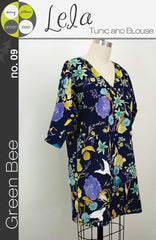 Lela Tunic and Blouse - Printed Apparel Pattern by Green Bee Patterns
