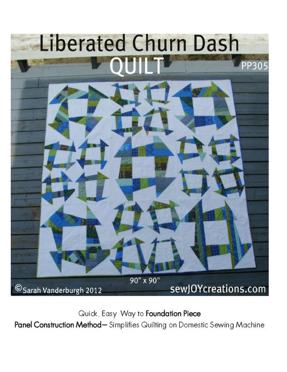 Liberated Churn Dash - PDF Quilt Pattern
