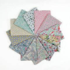 English Rose - Blogger Bundle - Fat Eighth Bundle from Liberty Tana Lawn by Pink Castle Fabrics House Designers  for Liberty