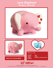 Love Elephant - PDF Accessory Pattern by DIY Fluffies