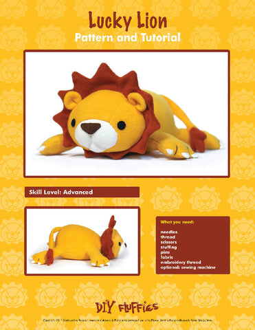 Lucky Lion - PDF Accessory Pattern