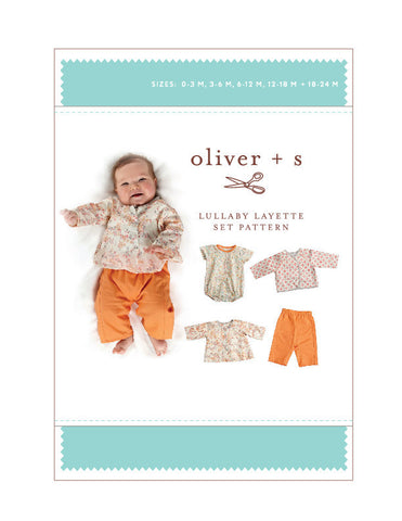Lullaby Layette 0-24m - PDF Apparel Pattern