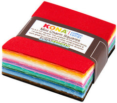 Kona® Cotton 30's Palette - Mini Charm Pack from Kona Solids by Darlene Zimmerman for Robert Kaufman