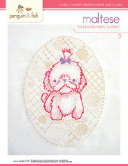 Maltese - PDF Accessory Pattern by Penguin and Fish