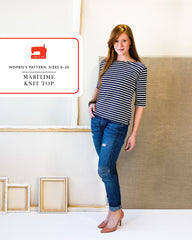 Maritime Knit Top - PDF Apparel Pattern from Liesl and Co by Oliver And S