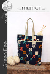The Market Bag - Printed Accessory Pattern by Green Bee Patterns