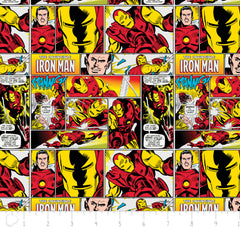 Marvel Iron Man in Multi from Marvel Comics by Camelot Fabrics House Designers  for Camelot Fabrics