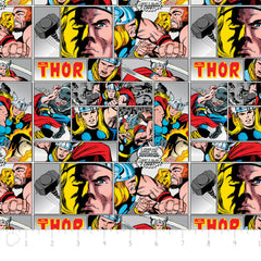 Marvel Thor in Multi from Marvel Comics by Camelot Fabrics House Designers  for Camelot Fabrics