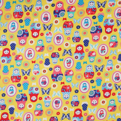 Matryoshka Butterflies in Yellow