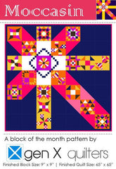 Moccasin Block of the Month - Backing and Binding Kit (Night) from Moccasin BOM by Cluck Cluck Sew for Sew Sweetness Purseware