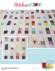 Modern Love - PDF Quilt Pattern by Stitches of Love