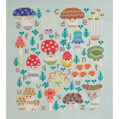 Mushroom Family Sampler - Aida Cross Stitch Kit for The Frosted Pumpkin Stitchery