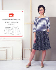 Soho Shorts + Skirt - PDF Apparel Pattern from Liesl and Co by Oliver And S
