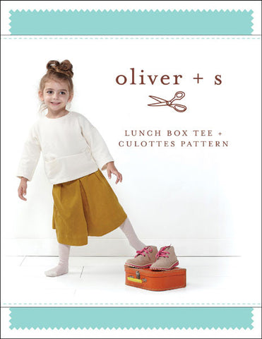 Lunch Box Tee + Culottes 6m - 4 - PDF Apparel Pattern