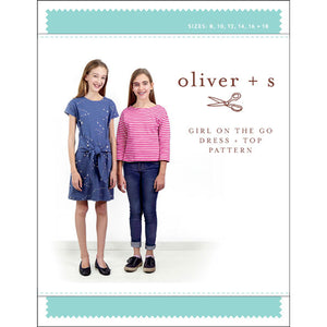 Girl On The Go Dress + Top - PDF Apparel Pattern